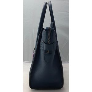 Celine Bags - New Celine Micro Luggage Tote Blue Drummed Leather